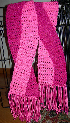 awareness pattern scarf cancer breast